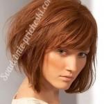 прическа на короткие волосы у рыжей девушки