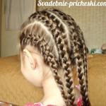 Крупные косы прическа у девочки