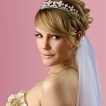 Невеста с прической на короткие волосы