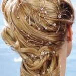 Очень красивая прическа с собранными волосами