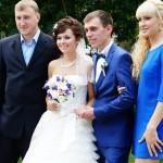 Совместная фотография с невестой