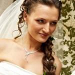 Свадебная прическа хвост