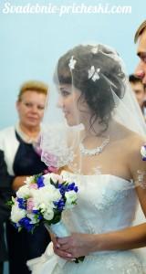 Свадебная прическа на бок