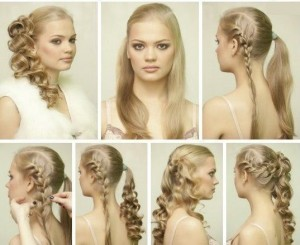 Свадебная прическа на длинные волосы своими руками