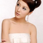 фото свадебная прическа на средние волосы