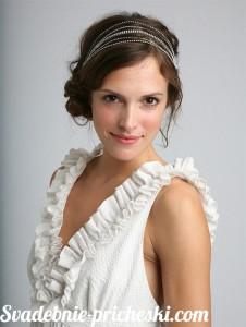 Свадебная прическа в греческом стиле на средние волосы