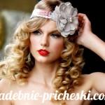 Свадебная прическа в греческом стиле на средние волосы с цветком в волосах