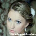 Свадебная прическа в греческом стиле на средние волосы с фатой