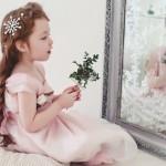 свадебная фотография маленькой девочки