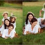 семья на поляне