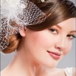 Невеста с круглым лицом и волосами на бок