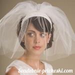 Свадебная прическа для коротких волос у для брюнетки