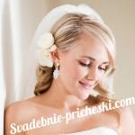 прическа у невесты на длинные волосы с цветами