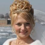 Невеста с красивой прической