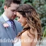 Жених и невеста с распущенными длинными волосами