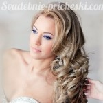 свадебная прическа у девушки с длинными волосами