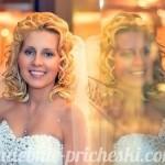 свадебная прическа у блондинки