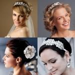Фотографии свадебных причесок на короткие волосы