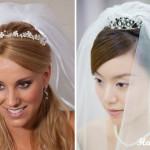Невеста с диадемой и фатой
