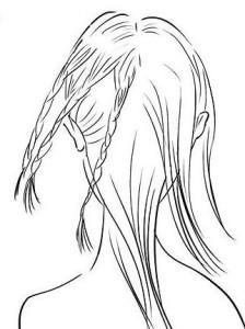 Закрепляем косы резинками