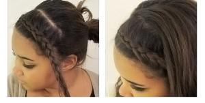 Укладываем челку в виде косы