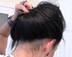 Собираем оставшиеся волосы