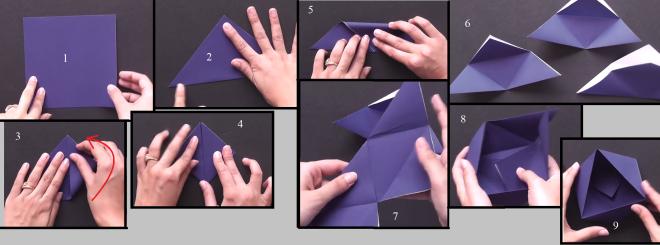 Бонбоньерка – треугольная  коробочка