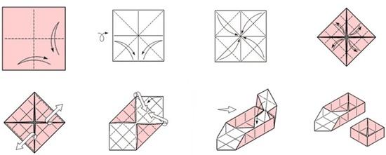 Бонбоньерка – классическая коробочка, схема