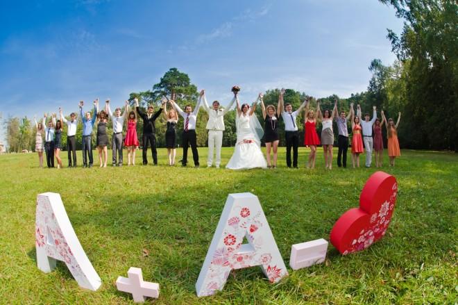 Буквы из пенопласта объемные для свадьбы