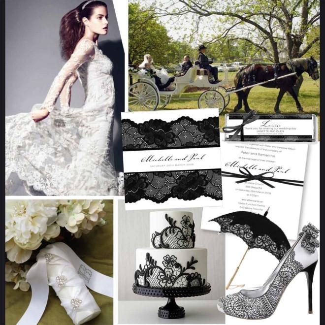 Свадьба в кружевном стиле, оформление
