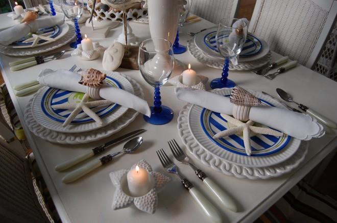 Декорирование свадебного стола в морском стиле