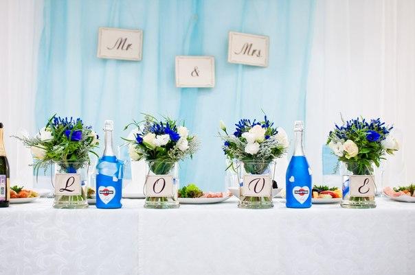 Мятная свадьба, декор