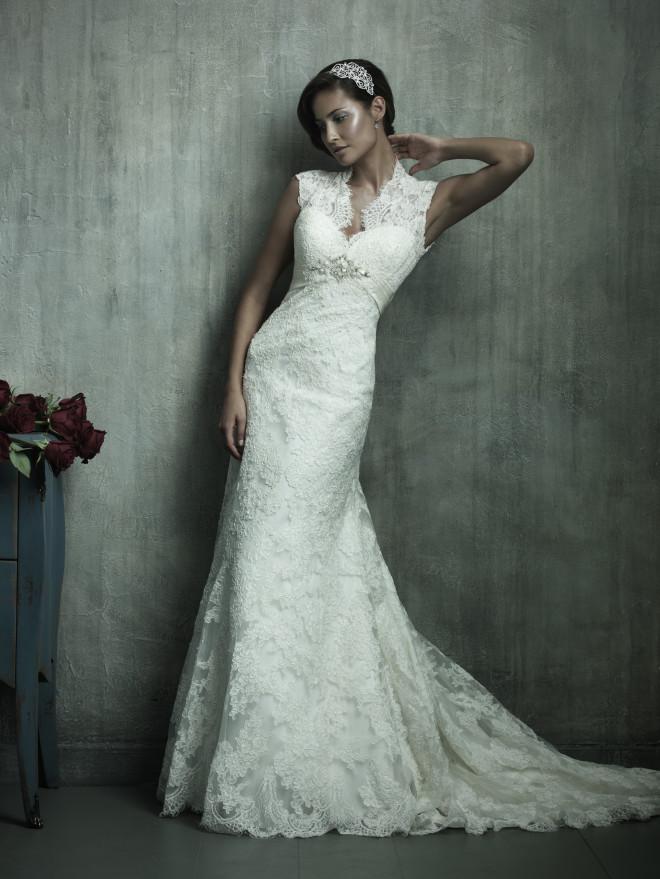 Платье в кружевном стиле для невесты