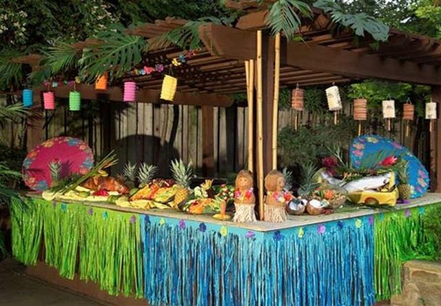 Оформление зала под Hawaiian Islands