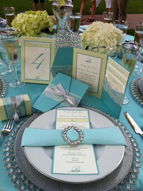 Оформление стола для мятной свадьбы