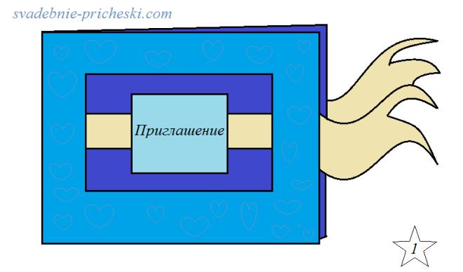 Открытка в технике скрапбукинг