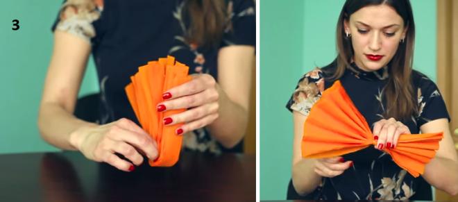 Помпоны из гофрированной бумаги своими руками - 3