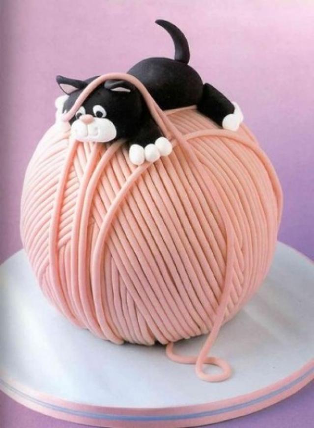 Милейший торт на девичник для невесты-рукодельницы