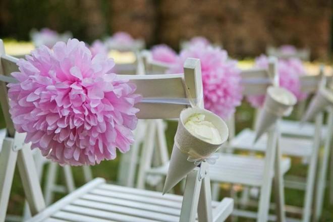 Помпоны на свадьбу своими руками