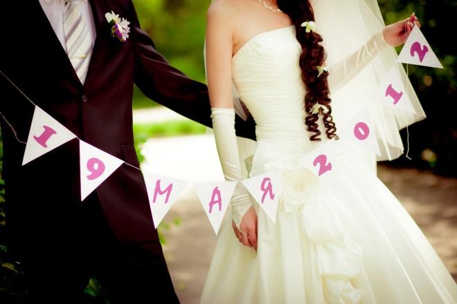 Гирлянды на свадьбу своими руками