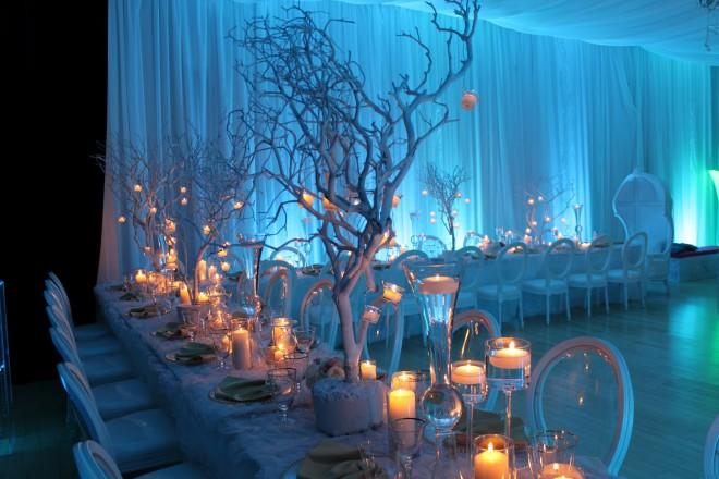 Варианты декорирования свадебного стола