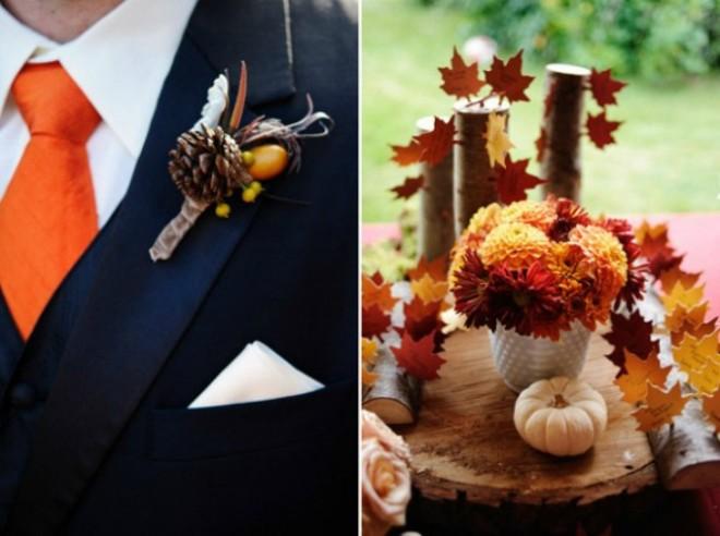 Осенняя свадьба, детали