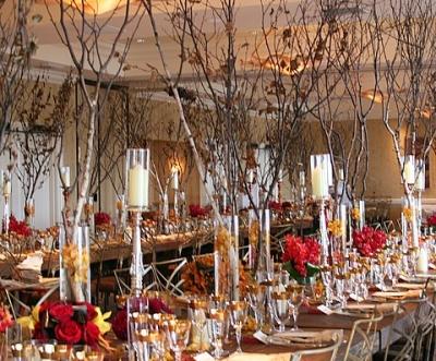 Осенняя свадьба, интерьер