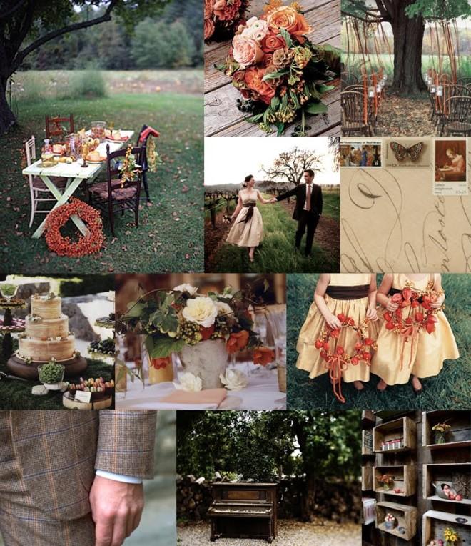 Осенняя свадьба по-деревенски