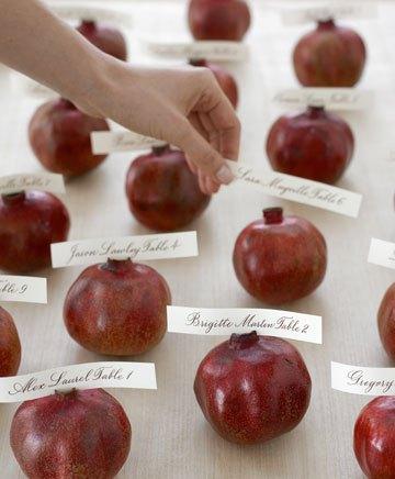 Осенняя свадьба, рассадочные карточки