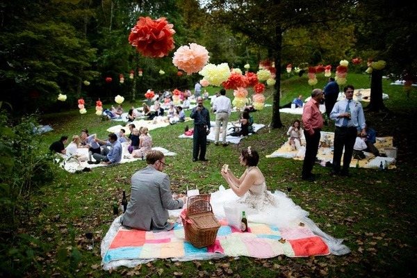 Свадьба в форме пикника
