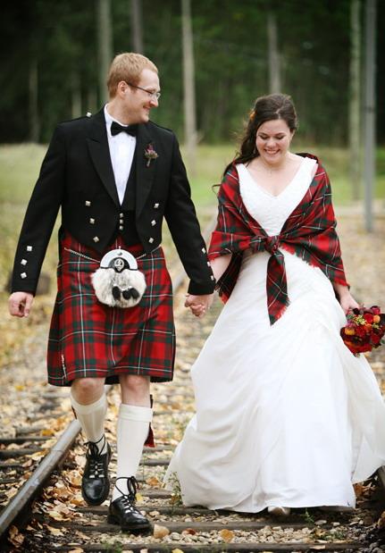 Шотландский платок на плечи