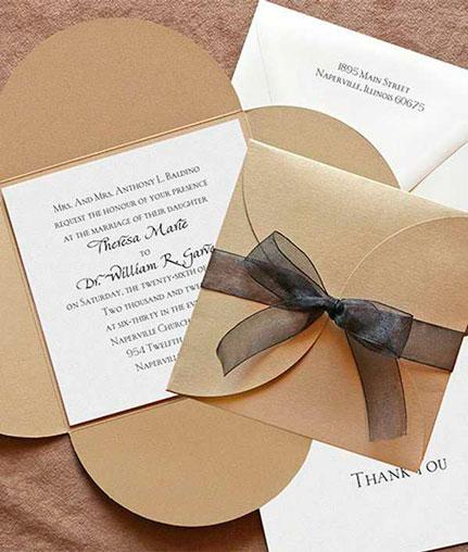 Приглашение на свадьбу в стиле подарка