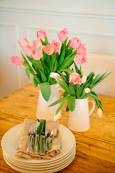 кораловый-тюльпаны
