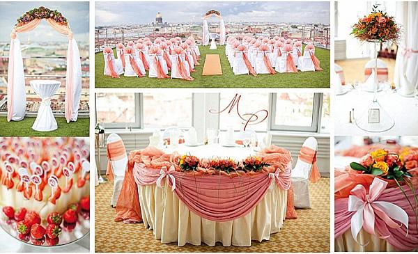 Тематическая свадьба в розовом цвете
